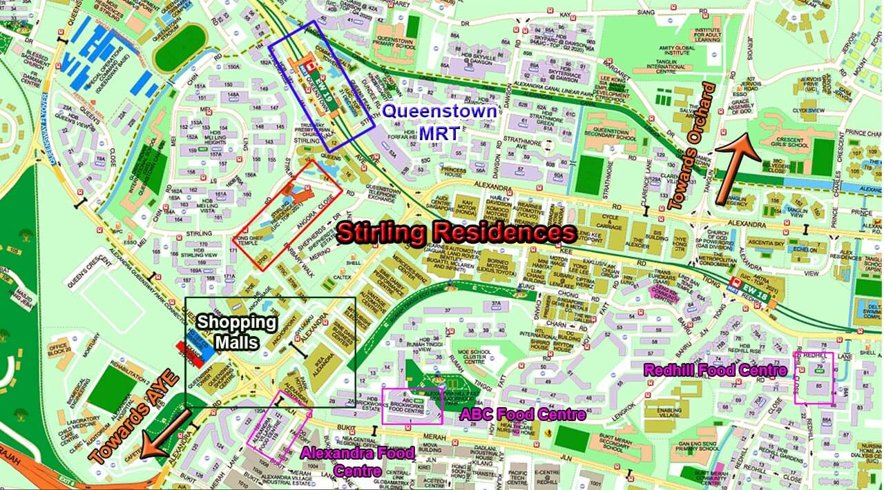 Stirling Residences by LN Development 5 Mins Walk to Queenstown MRT Location
